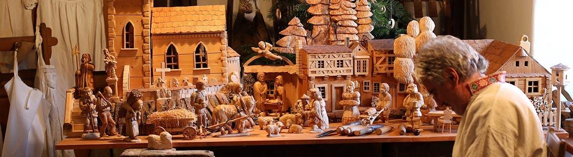 Dřevěný betlém - Dolní Počernice